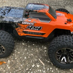My new Arrma 1/10 Granite 4x4 Truck w/ Hop-ups