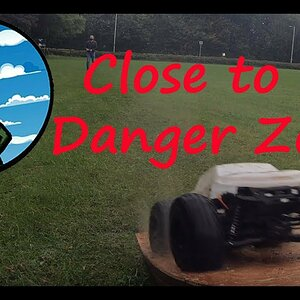 In The Danger zone. A Rainy day won't stop my Brand New Arrma Talion from cutting grass.