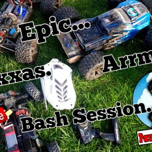 Epic bash session with The Arrma Kraton 6s and 4s, the Traxxas X-Maxx 8s, The UDR and many more.