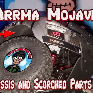 Upgrading the Arrma Mojave 6s. Fitting M2C Chassis, Scorched Parts Fenders. Finally happy with it.